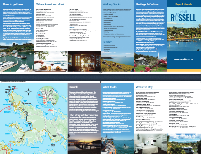 Visit Russell Brochure | Russell | Bay of Islands | New Zealand